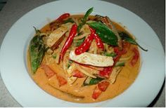 Amporn's Thai Kitchen: Vegetarian Tofu Red Curry in Bamboo Shoots