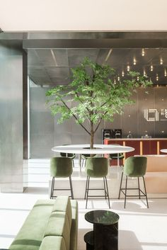 Vanke Tian Ma Sales Office, China by More Design Office - 谷德设计网 Cafe Interior Design, Cafe Design, Interior Architecture, Modern Interior, Design Design, House Design, Creative Office, Cool Office Space, We Work Office