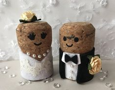 A pair of stand out wedding decorations or cake toppers - personalised to suit your theme, clothing & colour scheme. Each one is hand made with love & care! Let me know what you need when ordering (but dont worry too much, Ill check everything with you before making them). It would