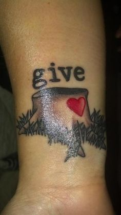 "20 Beautiful ""The Giving Tree"" Tattoos 