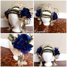 Mocha Art Deco Headdress Mermaid Tribal Fusion Belly dance bridal wedding head dress