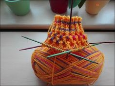 """Hoisting pattern (seen at D. Schulte) 60 total stitched needles wool: Schachenmayr / Regia """"Springtime Color"""" color 049 … Source by thiesenschiefer Baby Knitting Patterns, Lace Knitting, Knitting Socks, Stitch Patterns, Knit Crochet, Crochet Patterns, Patterned Socks, Indian Summer, Drops Design"""