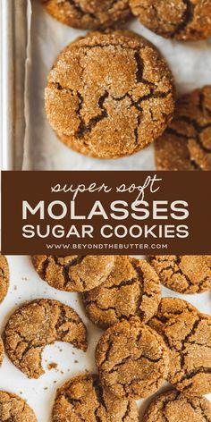 Sugar Cookies Recipe, Yummy Cookies, Fall Cookies, Christmas Ginger Cookies, Best Holiday Cookies, Holiday Treats, Crinkle Cookies, Cookies Soft, Just Desserts