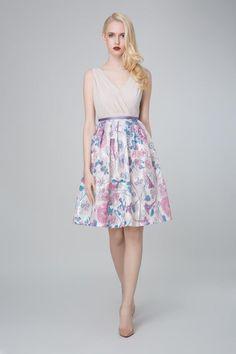 SADONI evening dress ZOE in soft jersey with ZENIA sequin skirt