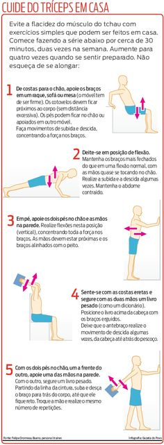 "Malhando o músculo do ""tchau"" (tríceps) em casa Healthy Style, Ways To Lose Weight, Get In Shape, Personal Trainer, Body Care, Health And Beauty, Health Fitness, Workout Fitness, Hiit"