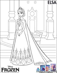 Disney Frozen Coloring Sheets - Anna, Elsa, Kristoff  Disney Frozen Birthday Party Ideas Sisters Shopping on a Shoestring