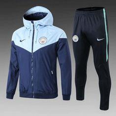 2fed38dac277 Manchester City 18 19 Royal Blue Hoodie Men Windbreaker Suit
