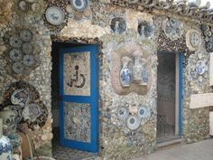 Look at the very artsy design of this restroom!