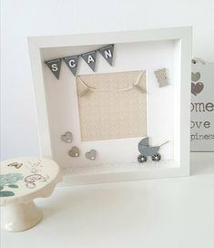 Baby Announcing Ideas Discover Items similar to Personalised baby scan photo frame Grey nursery decor for boy and girl Baby shower gift on Etsy Box Frame Art, Box Frames, Craft Frames, Cadeau Baby Shower, Baby Shower Gifts, Personalised Frames, Personalized Baby, Baby Nursery Diy, Nursery Decor
