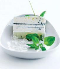 Gorgonzola og gewurztraminer gelé