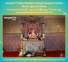 Ujjain Ke Yuvraj Home Ganpati 2016 Decoration Pictures, Decorating With Pictures, Ganpati Picture, Ganpati Festival, Festival Decorations, Ganesh, Picture Video, Taj Mahal, Tv