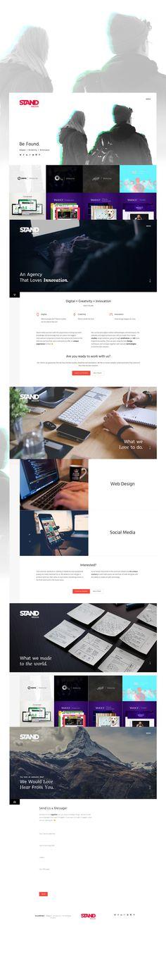 Stand Media - Website - UI/UX  http://standmedia.com.br/en/  #layout #web #design #grid #clean #webdesign #innovative #trending #ux #ui