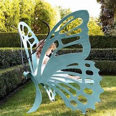 Cricket Forge Butterfly Bench- SO adorable. It would be perfect if you had an enchanted or fairy themed garden!