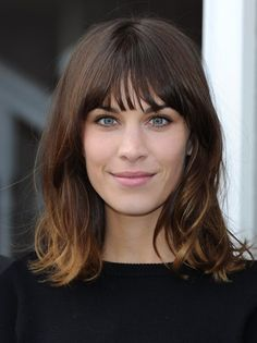 Simple shag cut.  alexa chung
