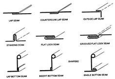 Different types of seams