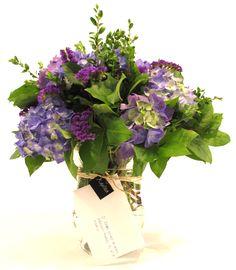 Bouquet de hortensia azul  www.eaquilea.com