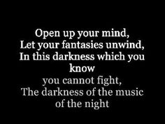 The Music of the Night (Lyrics) by Michael Crawford from the Phantom of the Opera
