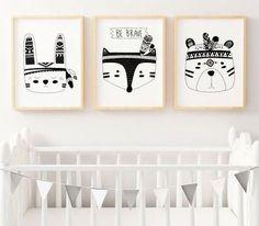 Pinspiration: une chambre noir et blanc pour votre bébé