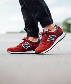 New Balance 'Made in England' M670RN: Red/Navy