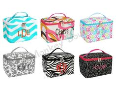 Cosmetic Case or Bag Large Size in 6 Pretty .. Great Gift Idea with Free Personalization by Chicmonkeybb, $24.95