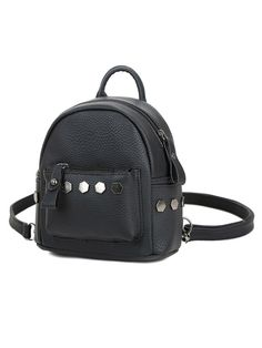 1bb237c2a9d3f Rivet Two Ways Croccbody Bag Backpack - CheapClothingCity.com Leather  Backpack, Backpack Bags,