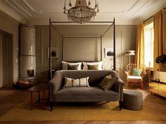 Bedroom interior design for the Ett Hem, Stockholm hotel by Ilse Crawford. Hotels Design, Home, Bedroom Interior, Bedroom Design, Suites, Interior Design Bedroom, House, Interior Design, Hotels Room