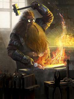 m npc Dwarf Blacksmith Weaponsmith Forge Fortress Mountain goggles hammer Fantasy Dwarf, Fantasy Rpg, Medieval Fantasy, Fantasy Artwork, Fantasy World, Dnd Characters, Fantasy Characters, Fantasy Inspiration, Character Inspiration