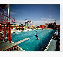 Sportland Pier in Wildwood, New Jersey - Aqua Circus. I spent many summer nights here in the and enjoying the divers and the swimming shows. North Wildwood, Baby Boy Halloween, Flotsam And Jetsam, Cape May, Summer Nights, New Jersey, Diving, Summertime, Aqua