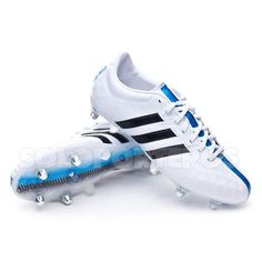 newest collection 7c9c2 5e39c adidas 11pro sg white core, solar blue | Bota adipure 11Pro XTRX SG White-
