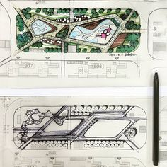 Residential Landscape Architecture Design Process For The Private Residence Landscape Sketch, Landscape Design Plans, Landscape Architecture Design, Architecture Graphics, Concept Architecture, Theater Architecture, Drawing Architecture, Architecture Images, Education Architecture