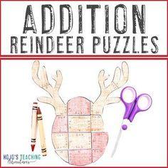 ADDITION Reindeer Math Worksheet Alternatives | Christmas Games | 2nd, 3rd grade, Activities, Basic Operations, Christmas/ Chanukah/ Kwanzaa, Games, Homeschool, Math, Math Centers