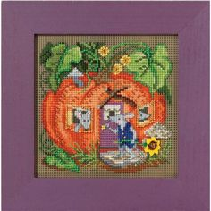 Mouse House Counted Cross-Stitch Kit - Herrschners #pumpkin