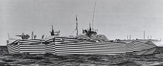 "Photo book of ""Dazzle Camouflage"" that was given to battleships aiming to deceive enemies rather than camouflaging 06"