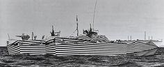 カモフラージュするのではなく敵を惑わすことを目的とする戦艦に施された「ダズル迷彩」の写真集06