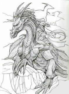 Nordic Dragon Coloring Pages