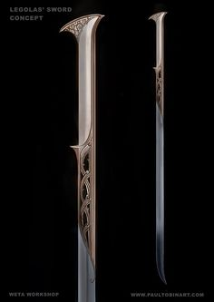 Legolas' sword concept from the Hobbit