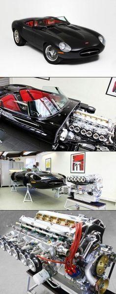 Jaguar Eagle Speedster engine by cynthia Best Classic Cars, Classic Sports Cars, Jaguar Type E, Jaguar Xk8, Automobile, Good Looking Cars, Xjr, British Sports Cars, Car Engine