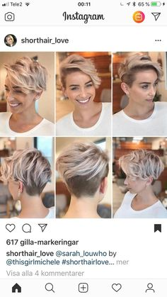 Shaved Side Hairstyles, Undercut Hairstyles, Cool Hairstyles, Hairstyle Ideas, Bob Hairstyle, Long Pixie Hairstyles, 1920s Long Hair, Pelo Pixie, Pixie Haircut
