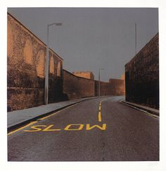 signs & street furniture - Gerd Winner, 'Slow' 1972