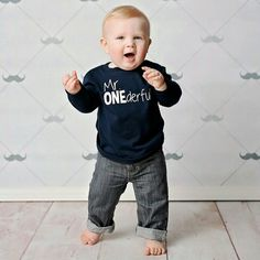 This Baby Is Adorable In His Mr ONEderful 1st Birthday Shirt The Back Of Has Name Too Wwwhappybrooke I LOVE Customer Photos