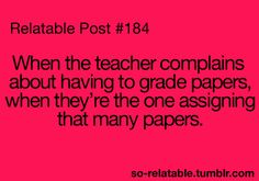 I hate that, you assigned it and you dint have to write it. So don't complain lol.