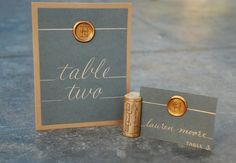 Table Numbers - Wedding Calligraphy - Hand Written