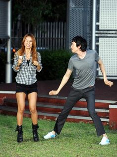 Running Man episode 1: Gwang Soo already showed off his dance skills since then! :D