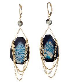 olia blue agate and pyrite earrings, max & chloe