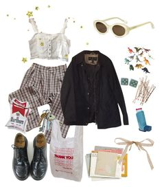 """""""smoke on the water"""" by ksjordan100 on Polyvore featuring Elizabeth and James, Dinosaurs, Dr. Martens and Barbour"""