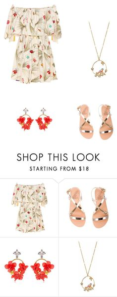 """Little birdie"" by destinyl734 ❤ liked on Polyvore featuring Fendi, Ancient Greek Sandals, VANINA and LC Lauren Conrad"