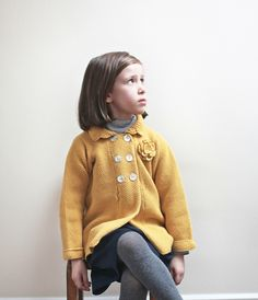 Aravore winter 2012 lovely moss stitched cardigan coat with tonal rosette for girls fashion next winter