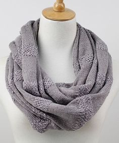 Gray Stripe Infinity Scarf | Daily deals for moms, babies and kids