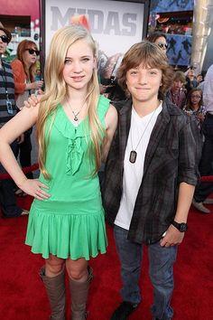 Sierra McCormick with Jake Short.... I love Sierra's dress!!