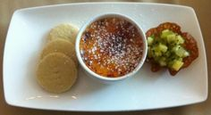 Tropical Crème brûlée with coconut shortbread & kiwi pineapple salsa @ Alea Casino, Glasgow    http://houseofherby.wordpress.com/